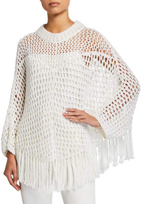 See by Chloe Crafty Knit Poncho Top