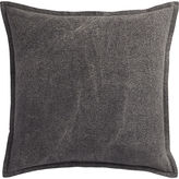 "CB2 Eclipse Charcoal 20"" Pillow With Down-Alternative Insert"