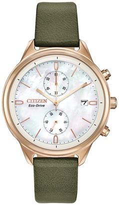 Citizen Women's Eco-Drive Vegan Leather Strap Watch, 39mm