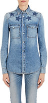 Givenchy Women's Star-Detailed Denim Shirt