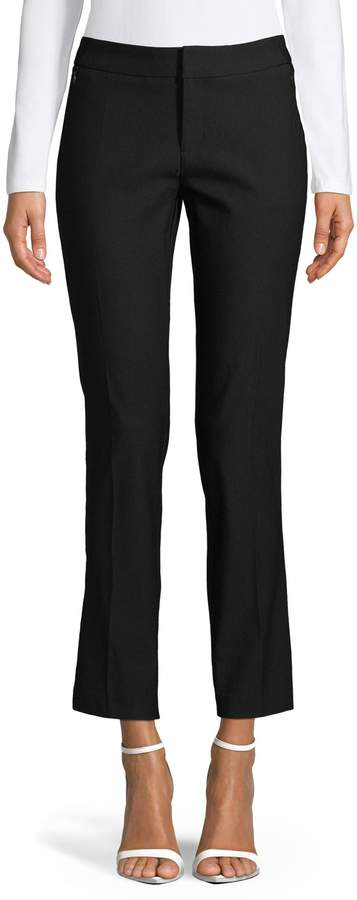 Lord & Taylor Mid-Rise Slim Ankle Pants
