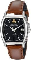 Brooks Brothers Men's SILGB004 Core Collection - Rectangular Analog Display Automatic Self Wind Brown Watch