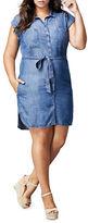 Dex Plus Denim Shirt Dress