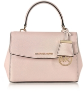 Michael Kors Ava Soft Pink Saffiano Leather XS Crossbody Bag