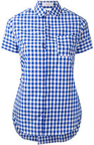 Facetasm open back check shirt - women - Cotton - 1