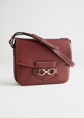 And other stories Buckled Leather Shoulder Bag