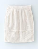Boden Broderie Skirt