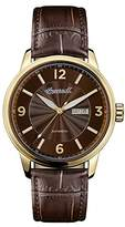 Ingersoll Men's Automatic Stainless Steel and Leather Casual Watch, Color:Brown (Model: I00201)