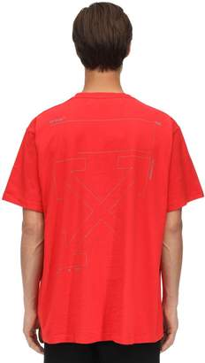 Off-White Off White OVERSIZE UNFINISHED PRINT COTTON T-SHIRT