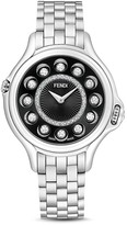 Fendi Crazy Carats Stainless Steel Rotating Gemstones Watch with Diamonds, 38mm