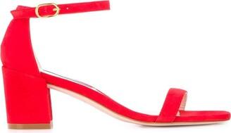 Stuart Weitzman The Simple block-heel sandals