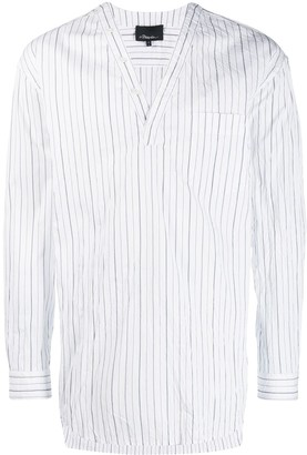 3.1 Phillip Lim V-neck vertical-stripe shirt