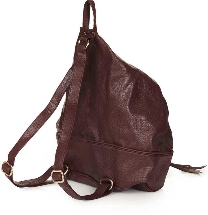 Topshop Zip Front Backpack
