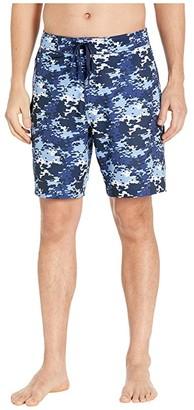 Southern Tide Graffiti Camo Water Shorts (True Navy) Men's Swimwear