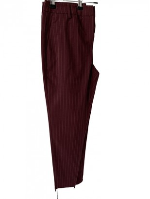 Selected Burgundy Trousers for Women