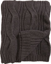 Barneys New York Large Cable Knit Throw