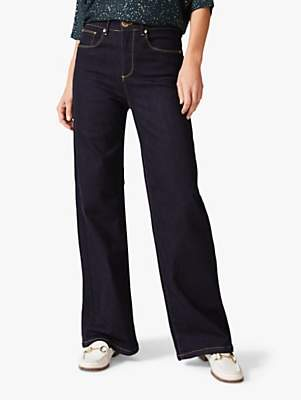 Phase Eight Viona Wide Leg Jeans, Indigo