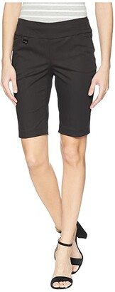 Lisette L Montreal Jupiter Cotton Stretch Bermuda Shorts (Black) Women's Shorts