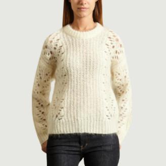 IRO Paris - White Nylon Markyl Sweater - s   nylon   white - White/White