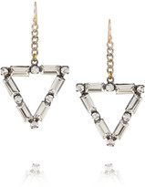 Lulu Frost Empire oxidized silver-tone crystal earrings
