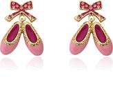 Pink & Gold Ballet Shoe Dangle Earrings