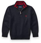 Ralph Lauren Half-Zip Cotton Pullover, Navy, Size 2-4