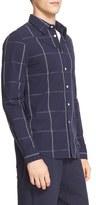 Saturdays Nyc Men's 'Reed' Windowpane Plaid Sport Shirt
