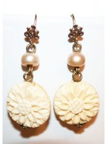 New Neiman Marcus Stephen Dweck White Floral Pearl Earrings