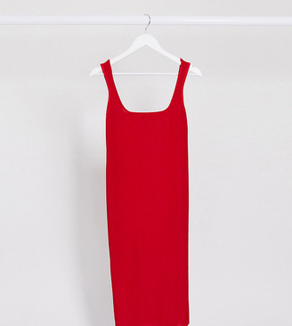 Fashionkilla Maternity going out midi dress in red