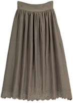 Rylee + Cru Teen & Women's Collection Embroidered Maxi Skirt
