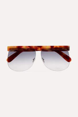 Courreges D-frame Tortoiseshell Acetate Sunglasses
