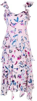 Tanya Taylor Violeta floral ruffle dress
