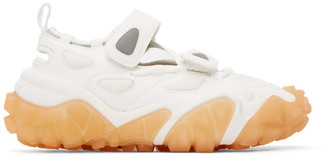 Acne Studios White and Orange Blotzer Bryz Crystal Sneakers