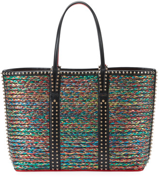 Christian Louboutin Cabata Multicolor Woven Straw Tote Bag