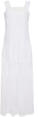 Charo Ruiz Ibiza Guipure Lace-paneled Cotton-blend Mousseline Maxi Dress