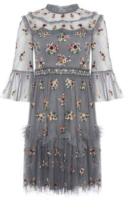 Needle & Thread Madalena Embellished Floral Shift Dress