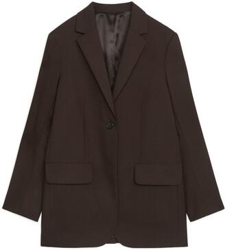 Arket Hopsack Wool Blazer