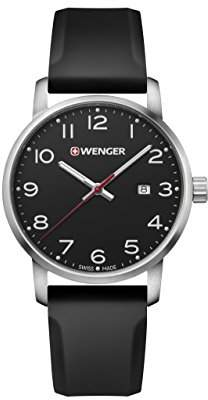 Wenger Men's Sport Stainless Steel Swiss-Quartz Watch with Silicone Strap