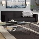 Pyron Contemporary Leather Sofa Latitude Run