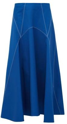 Colville - Panelled Cotton-twill Skirt - Blue