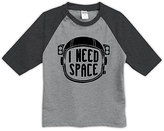 Urban Smalls Heather Gray & Charcoal 'Need Space' Raglan Tee - Toddler & Boys