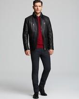 HUGO BOSS Neldo Waxy Leather Jacket