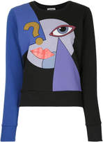 Yazbukey graphic face print sweatshirt