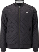 Fred Perry Quilted Bomber Jacket, Black