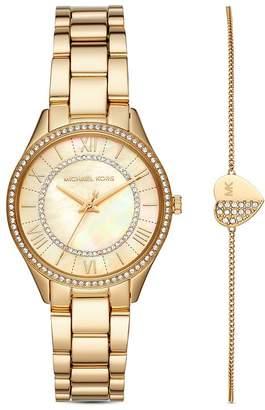 Michael Kors Lauryn Bracelet & Link Bracelet Watch Gift Set, 33mm