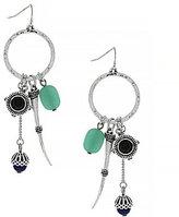 Jessica Simpson Sodalite & Turquoise Drop Hoop Earrings