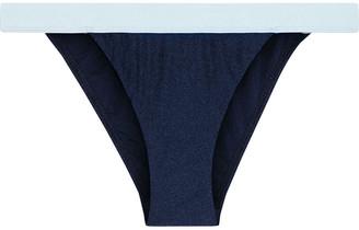Zimmermann Two-tone Low-rise Bikini Briefs