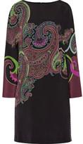 Etro Paisley-print Stretch-silk Dress - Black
