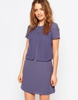 Maison Scotch Purple Twofer Dress