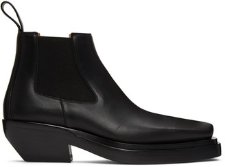 Bottega Veneta Black Lean Chelsea Boots